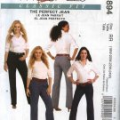 McCall's Sewing Pattern 5894 Womans Plus Size 18W-24W Classic Fit Straight Boot-Legged  Blue Jeans