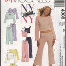 McCall's Sewing Pattern M4008 4008 Junior Size 3/4-9/10 Easy Knit Lounge Tops Shorts Pants
