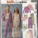 McCall's Sewing Pattern 4025 Girls' Size 12-16 Easy Wardrobe Shirt Tops Pants Skirt