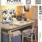 McCall's Sewing Pattern 4072 Home Office Desk Accessories Blotter Memo Board Chair Cushion