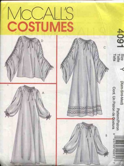 McCall�s Costume Sewing Pattern 4091 Misses Size 4-14 Historical Costume Chemise Undergarment