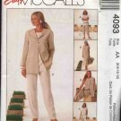 McCall's Sewing Pattern 4093 Misses Size 16-22 Easy Wardrobe Jacket Tunic Dress Cropped Long Pants