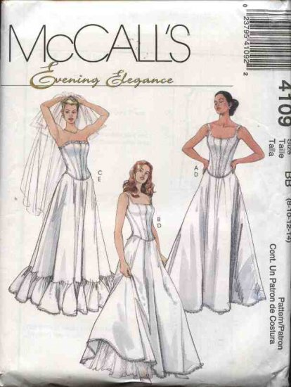 McCall's Sewing Pattern 4109 Misses Size 8-14 Long Full Slips Petticoats Boned Top Corset Bustier
