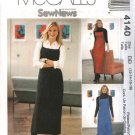 McCall's Sewing Pattern 4140 Misses Size 4-10 Easy Sew News Fitted Long A-line Jumper