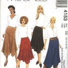 McCall's Sewing Pattern M4153 4153 Misses Size 8-14 Flared Bias Asymmetrical Skirts