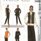 McCall's Sewing Pattern 4178 Misses Size 8-14 Wardrobe Shirt Unlined Vest Top Pants Skirt