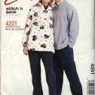 McCall's Sewing Pattern 4201 M4201 Misses Mens Unisex Chest Size 31½-40 Easy Jacket Top Pants