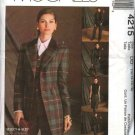 McCall's Sewing Pattern 4215 Misses Size 12-18 Wardrobe Lined Jacket Vest Pants Skirt