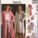 McCall's Sewing Pattern 4218 Misses Size 4-14  Bathrobe Robe Camisole Nightgown Pajama Pants