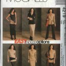 McCall's Sewing Pattern 4219 Misses Size 16-26 Easy Wardrobe Knit Top Tunic Dress Pants Skirt Tube