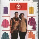 "McCall's Sewing Pattern 4227 Misses Mens Unisex Chest Sizes 34-44"" Easy Zipper Front Jacket Vest"