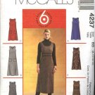 McCall's Sewing Pattern 4237 Misses Size 14-20 Easy Long Short A-Line Jumper