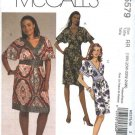 McCall's Sewing Pattern 5579 Womans Plus Size 18W-24W Straight Mock Wrap Front Bodice  Dresses