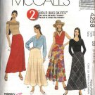 McCall's Sewing Pattern 4258 Misses Size 12-18 2-Hour Bias A-Line Flared Skirts