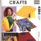 McCall's Sewing Pattern 4264 Easy Fleece Blankets Backpack Carryall
