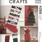 McCall's Sewing Pattern 4266 Christmas Stockings Card Holder Bottle Gift Bag Door Knob Hanger