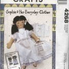 McCall's Sewing Pattern 4268 Sophie Doll Clothes French Heirloom Chemise Petticoat Nightgown