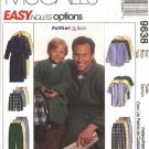 "McCall's Sewing Pattern 9638 Mens Chest Size 34-48"" Easy Pajamas Pullover Top Pants Shorts Robe"