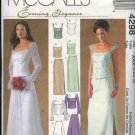 McCall's Sewing Pattern 4298 Misses Size 4-10 Evening Formal Prom Wedding Bridal Top Skirt
