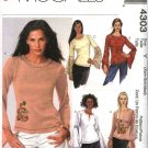 McCall's Sewing Pattern 4303 Misses Size 4-14 Easy Pullover Long Sleeve Knit Tops