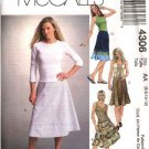 McCall's Sewing Pattern 4306 Misses Size 10-16 Bias Flared Embellished Classic Skirts