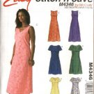 McCall's Sewing Pattern 4346 Misses Size 16-22 Easy A-Line Sleeveless Short Sleeve Dresses