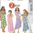 McCall's Sewing Pattern 4362 Girls Size 7-10 2-Hour Pullover Summer Lined Asymmetrical Hem Dresses