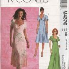 McCall's Sewing Pattern 4370 Misses Size 6-12 Empire Waist Flared Skirt Dress