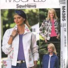 McCall's Sewing Pattern 4385 M4385 Misses Size 10-16 Sew News Blue Jean Jacket Machine Embroidery