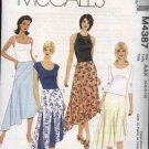 McCall's Sewing Pattern 4387 Misses Size 8-14 Flared Godet Seam Details Asymmetrical Hemline Skirt