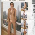McCall's Sewing Pattern 4390 M4390 Misses Size 14-20 Wardrobe Lined jacket Top Tunic Skirt Pants