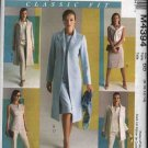 McCall's Sewing Pattern 4394 M4394 Misses Size 18-24 Wardrobe Lined Jacket Coat Top Dress Pants