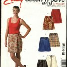 McCall's Sewing Pattern 4418 Misses Size 6-12 Easy Front Wrap Skorts Culottes