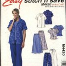 McCall's Sewing Pattern 4420 Misses Size 8-14 Easy Wardrobe Button Front Shirt Top skirt Pants