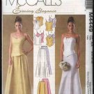 McCall's Sewing Pattern 4449 Misses Size 6-12 2-Piece Wedding Gown Formal Prom Dress Skirt Top