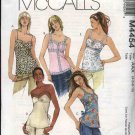 McCall's Sewing Pattern 4454 Misses Size 4-10 Empire Waist Camisole Style Pullover Top