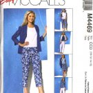 McCall's Sewing Pattern 4469 Misses Size 10-16 Easy Wardrobe Shirts Top Skirt Cropped Capri Pants