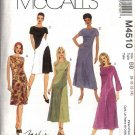 McCall's Sewing Pattern 4510 Misses Size 12-18 Fashion Basic Bias Dresses Color Blocked