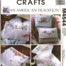 McCall's Sewing Pattern 4544 Embroidered Dresser Scarf Keepsake Pouch Pillow Cover