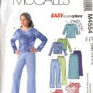 McCall's Sewing Pattern 4554 M4554 Girls Size 12-16 Easy Knit Pullover Tops Straight Skirts Pants