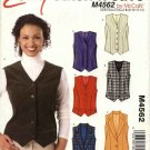 McCall's Sewing Pattern 4562 M4562 Misses 8-14 Easy Button Front Princess Seam Lined Vest