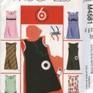 McCall's Sewing Pattern 4581 Junior Sizes 3/4-9/10 Easy Lined Jumpers Pocket Trim Variations