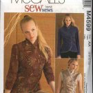 McCall's Sewing Pattern 4599 Misses Size 10-16 SewNews Unlined Asymmetrical Front Jacket Vest