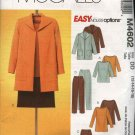 McCall's Sewing Pattern 4602 Misses Size 12-18 Easy Unlined Jacket Top Tunic Straight Skirt Pants