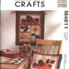 McCall's Sewing Pattern 4611 Harvest Sampler Patchwork Quilted Crafts Wallhanging Pillow