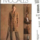 McCall's Sewing Pattern 4663 Misses Size 8-14 Wardrobe Lined Jacket Top Skirt Pants
