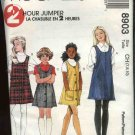 McCall's Sewing Pattern 8903 Girls Size 7-10  2-Hour Button Side Front Jumpers