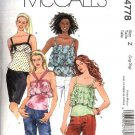 McCall's Sewing Pattern 4778 Misses Size 16-2 Lined Pullover Camisole Style Ruffled Tops