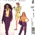 McCall's Sewing Pattern 4786 Misses Size 6-12 Lined Jacket Shirt Pants City Bermuda Shorts Suit