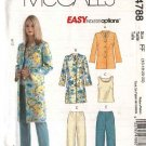McCall's Sewing Pattern 4788 Misses Size 8-14 Easy Wardrobe Unlined Jacket Top Cropped Pants
